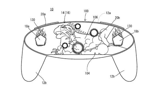 il concept di Nintendo per un controller con tasti virtuali.