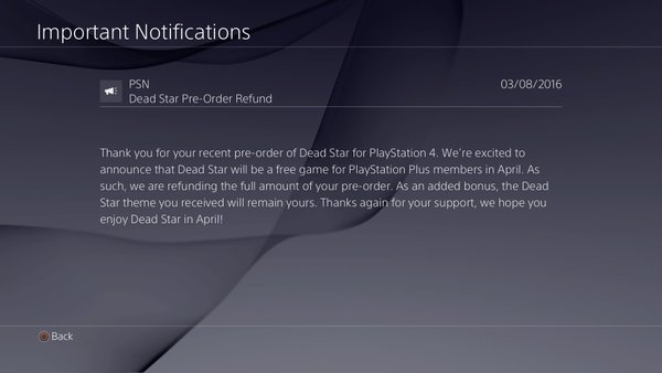 Play Station Plus Dead Star