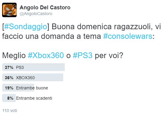 Sondaggio PS3 vs Xbox 360