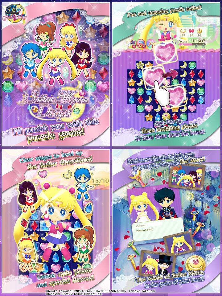 Sailor Moon Drops Gameplay