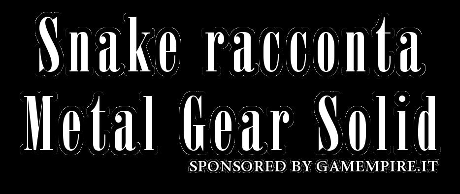 Snake racconta Metal Gear Solid Logo