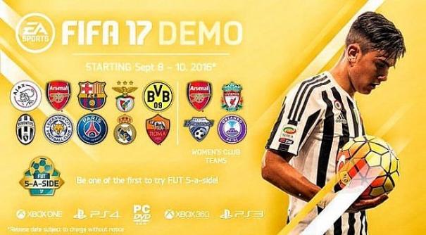 demo di FIFA 17
