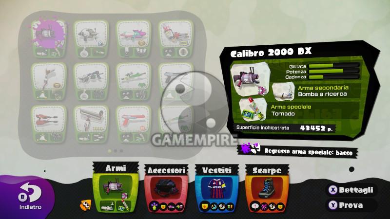 Splatoon Wii U Calibro 2000 DX
