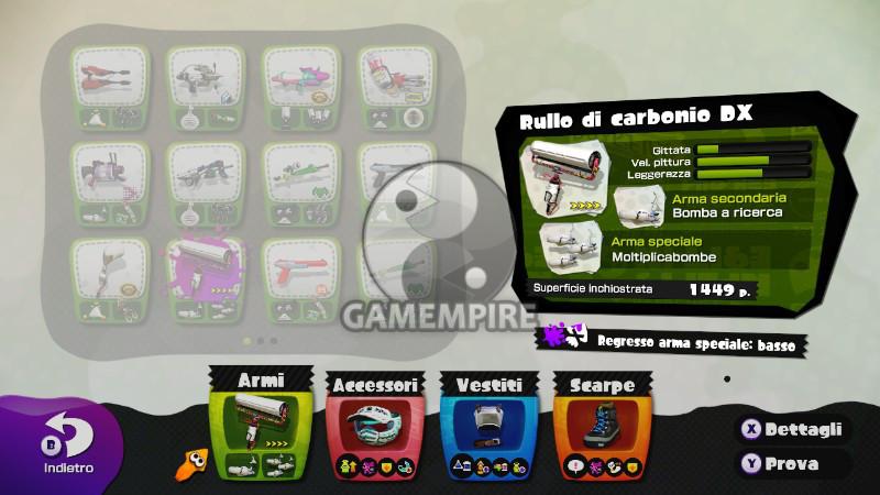 Splatoon Wii U rullo carbonio DX