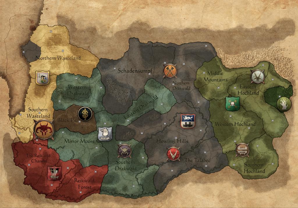 mappa Call of Beastmen