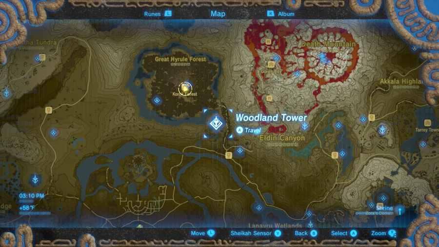 Zelda Breath of the Wild Bosco Korogu mappa Gamempire