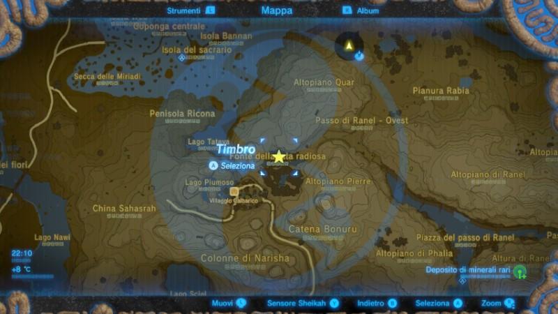 Zelda Breath of the Wild Fata radiosa Cotera mappa Nintendo Wii U Switch Gamempire