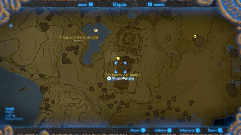 Zelda Breath of the Wild arco del viandante mappa Nintendo Wii U Switch Gamempire