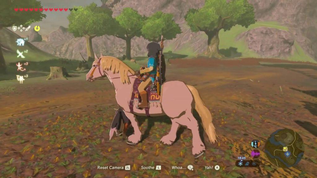 Zelda Breath of the Wild cavallo bianco Totes Stallaggio della piana Gamempire