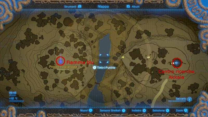 Zelda Breath of the Wild centro ricerche Akkala mini sfida il ricercatore lo scienziato Rovely mappa Gamempire
