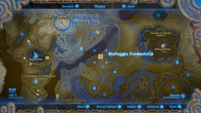 Zelda Breath of the Wild sacrario Gaoma Asa mappa Nintendo Wii U Switch Gamempire
