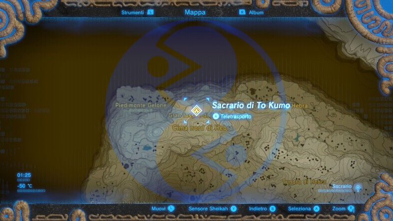 Zelda Breath of the Wild sacrario To Kumo mappa 02 Nintendo Wii U Switch Gamempire